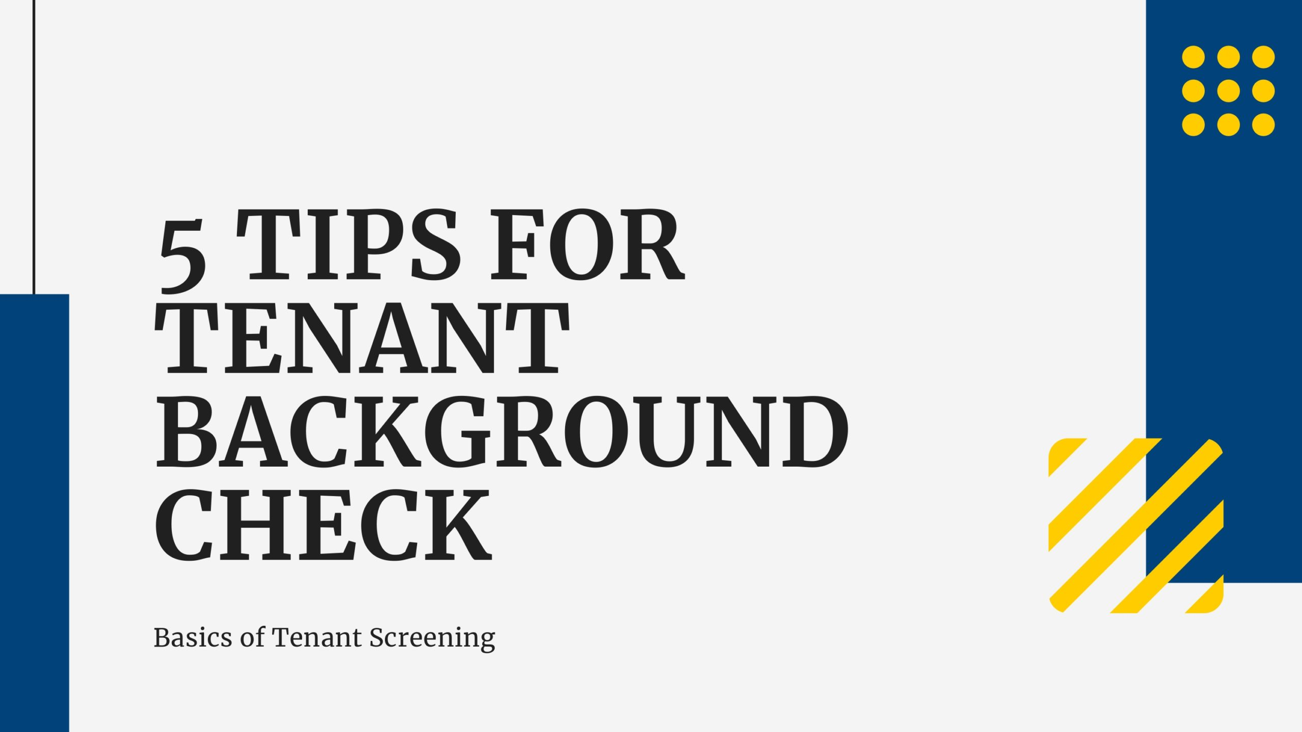 5 Tips for Tenant Background Check